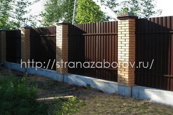 Забор из профнастила изнутри. Балашиха