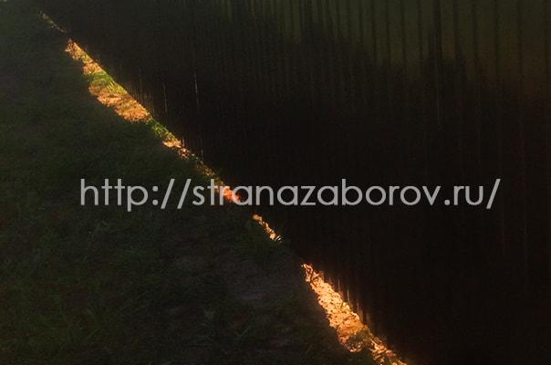 Установка забора из профнастила в Коломенском районе