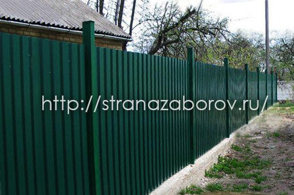 Заказать забор из профнастила в Подмосковье